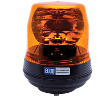 ECCO 5816R 5800 Series Low-Profile Rotating Halogen Beacon (Flexi Base 1-Bolt Mount, Red)