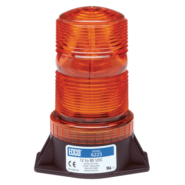 ECCO 6220B 6220 Series Low-Intensity Flashtube Strobe Beacon (2-Bolt Mount, Blue)