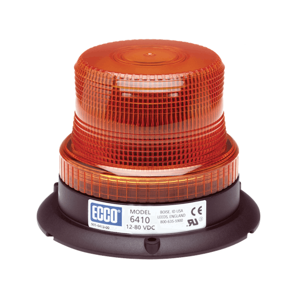 ECCO 6410R 6410 Series Low-Profile Flashtube Strobe Beacon (3-Bolt Mount, Red)
