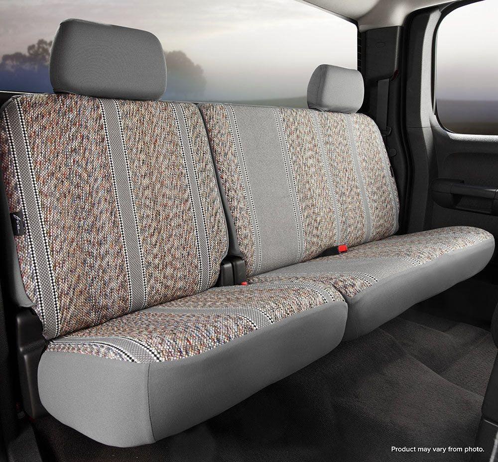 Saddle Blanket, Black Fia TR42-92 Black Custom Fit Rear Seat Cover Split Seat 60//40