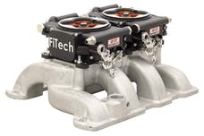 FiTech 30064 Go EFI Dual Quad Power Adder System Kit (Matte Black, 1200 HP)