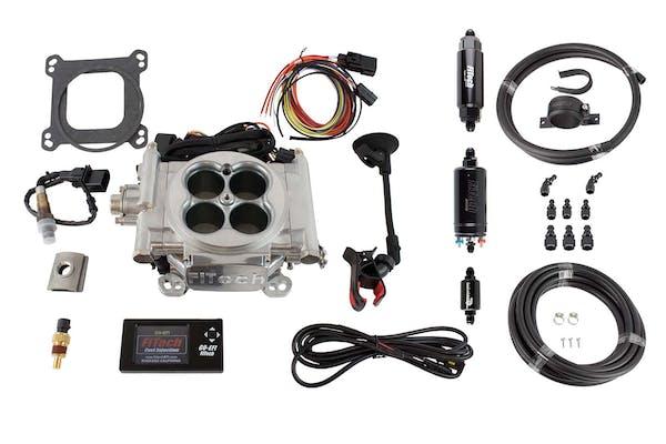 FiTech 31001 Go EFI 4 System Master Kit (Aluminum, 600 HP, Inline Fuel Pump)
