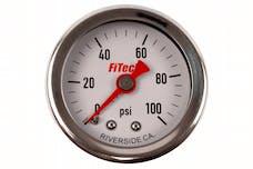 FiTech 80117 Fuel Pressure Gauge 0-100 PSI Oil Filled