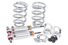 Flaming River FR70006 Mustang II Front Coil-Over Dual Adjustable Shocks Kit - 375 lbs. Spring Rate
