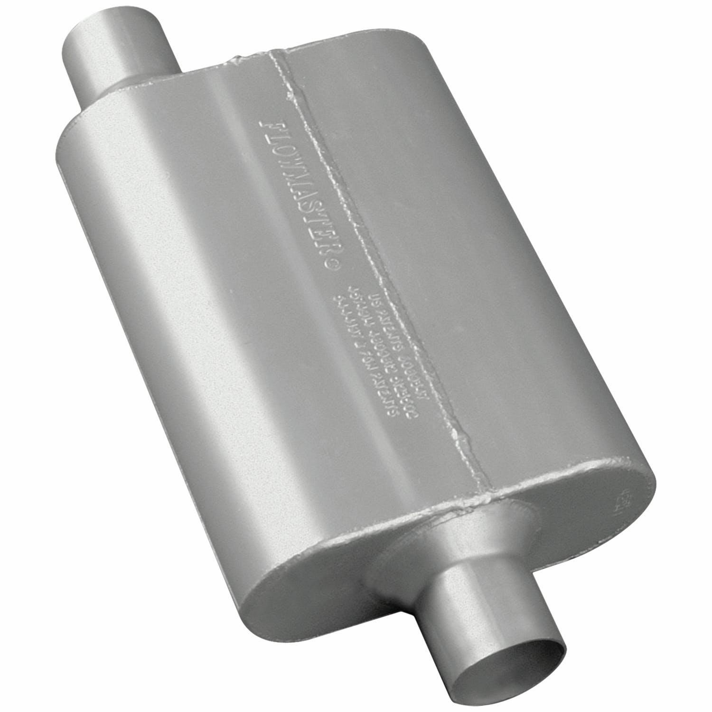 """Center Outlet Flowmaster 42441 Original 40 Series 2.25/"""" Muffler Offset Inlet"""