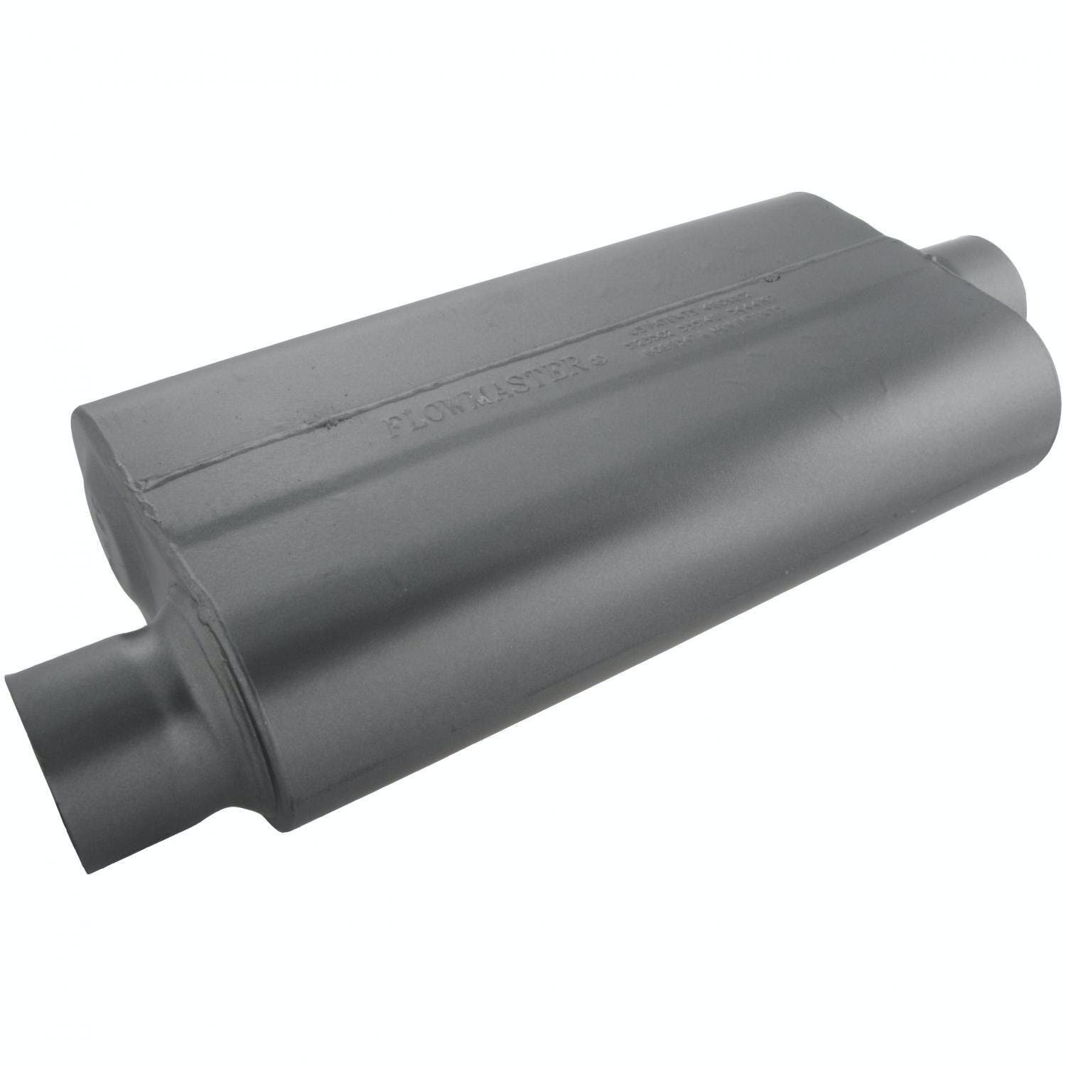 3.00 Center IN Flowmaster 8430502 50 Delta Muffler 409S Moderate Sound 2.50 Dual OUT