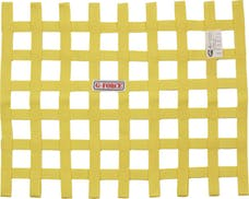 G-FORCE Racing Gear 4131YL RIBBON WINDOW NET SFI 27.1 YELLOW