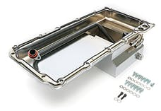 Hamburger's Performance 0174 Ls Swap Oil Pan With 90 Degree Fittings Chrome