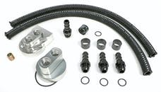 Hamburger's Performance 3364 BILLET SINGLE OIL FILTER RELOCATION KIT-SB CHEVY & BB CHEVY