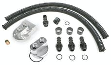Hamburger's Performance 3366 BILLET SINGLE OIL FILTER RELOCATION KIT-CHEVY V6 & 4 CYL.