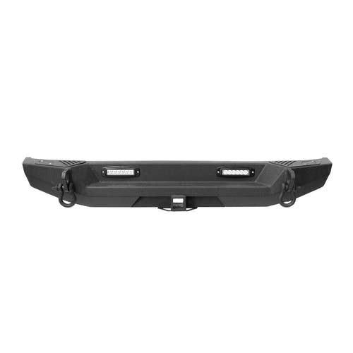 Iconic Accessories 232-5002 Rear Bumper w/Tire Carrier Option Textured Black