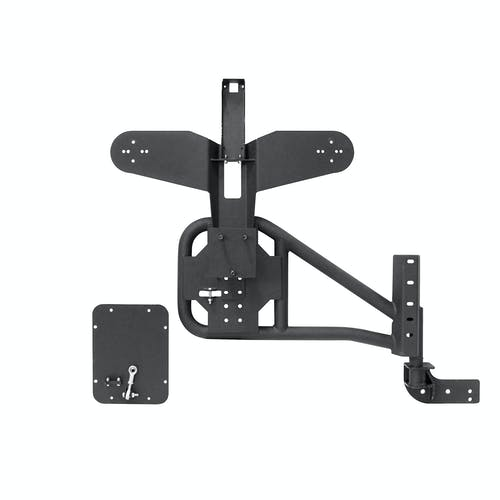 Iconic Accessories 233-5102 Textured Black Bolt-on Tire Carrier