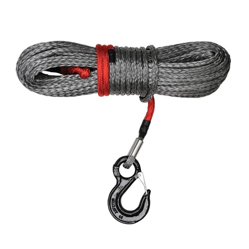 """Iconic Accessories 431-82181 Synthetic Winch Rope, 11/32"""" X 100' w/hook rated at 10,000 lbs."""