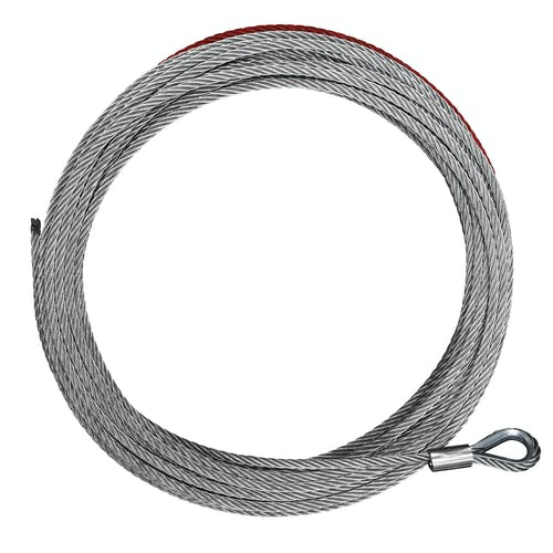 "Iconic Accessories 431-82205 Replacement Winch Cable 3/8"" x 85' rated at 12,500 lbs."