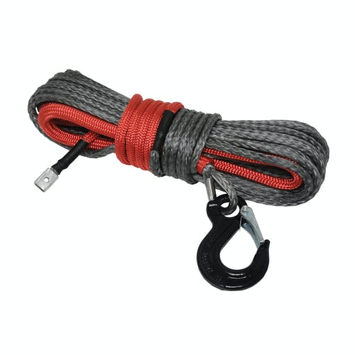 """Iconic Accessories 431-82223 Synthetic Utility Winch Road 1/4"""" x 50' length rated at 5,000 lb"""