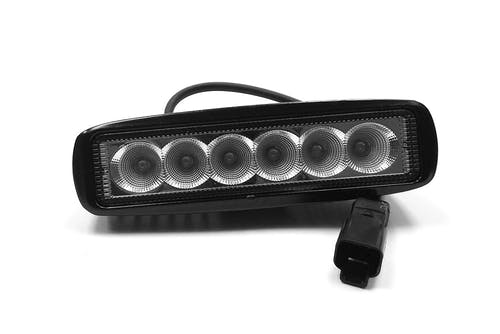 "Iconic Accessories 511-1061 6"" LED Light Bar 18W Flood Single Row 2,880 Lumens each"
