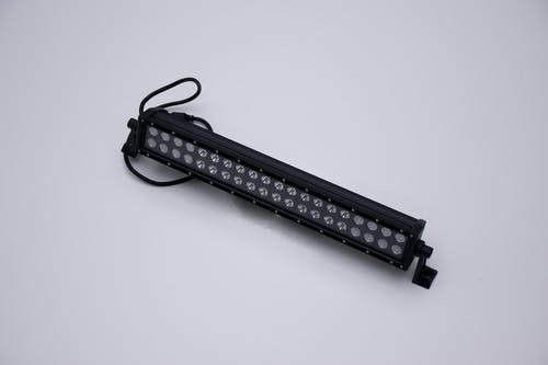 "Iconic Accessories 512-1201 20"" LED Light Bar Black Face Str, Dbl Row, Combo Flood/Beam 120w 9,600 Lumens"