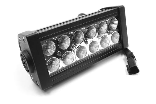 "Iconic Accessories 513-1061 6"" LED Light Bar Str, Dbl Row, Combo Flood/Beam 36w 3,600 Lumens"