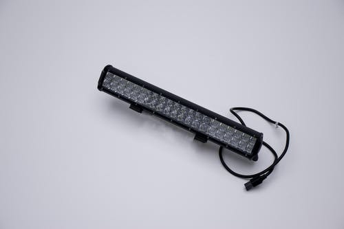 "Iconic Accessories 513-1202 20"" LED Light Bar Str, Dbl Row, Combo Beam 120w 9,600 Lumens Adjst Base Mounts"