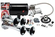 Kleinn Automotive Air Horns HK4 Pro Blaster™ Quad Air Horn Kit w/130 PSI Sealed Air Compressor/1.0 gal tank
