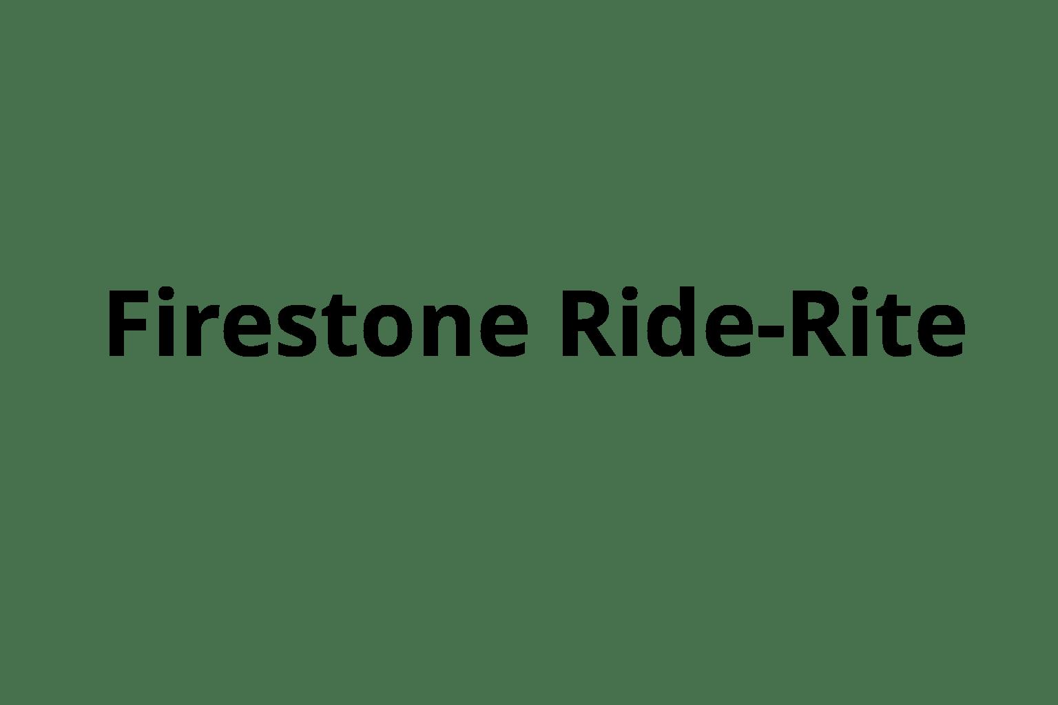 Firestone Ride-Rite