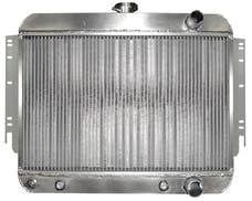 Northern Radiator 205200 Muscle Car Radiator - 20 1/2 x 24 3/4 x 3 (DOWNFLOW) W/ CONNECTIONS ON RIGHT