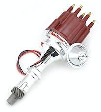 Pertronix D7120711 D7120711 Elec Dist Billet Pontiac V8 w/Ignitor III Vac Adv Red Male Cap