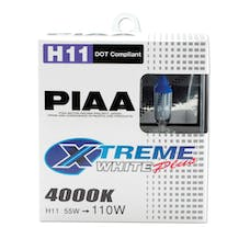PIAA 15211 Xtreme White Plus Series Halogen Bulb (H11, Twin Pack)