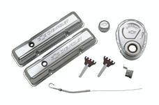 PROFORM 141-001 Engine Dress-Up Kit; Chrome with Stamped Chevy Logo; Fits SB Block Chevy Engines