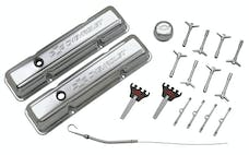 PROFORM 141-002 Engine Dress-Up Kit; Chrome with Stamped Chevy Logo; Fits SB Block Chevy Engines