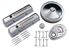 PROFORM 141-900 Engine Dress-Up Kit; Chrome w/Red Chevy Logo; Fits SB Block Chevy Engines