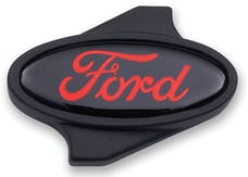 PROFORM 302-339 Carburetor Air Cleaner Center Nut; Ford Oval Logo; 1/4 -20 Thread; Black/Red