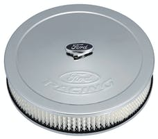 PROFORM 302-350 Air Cleaner Kit; Chrome; Embossed Ford Logo; 13 Inch Diameter With Center Nut
