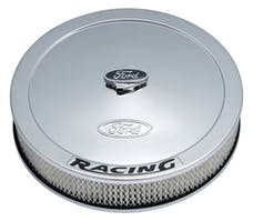 PROFORM 302-351 Air Cleaner Kit; Chrome; Embossed Ford Logo with Black Lettering; 13 In. Diam.