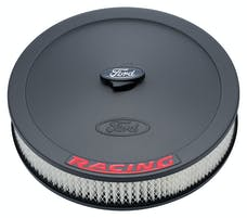 PROFORM 302-352 Air Cleaner Kit; Black; Inlaid Ford Logo with Red Lettering; 13 In. Diameter