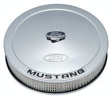 PROFORM 302-361 Air Cleaner Kit; Chrome; Embossed Mustang Logo; 13 In. Diameter; With Center Nut
