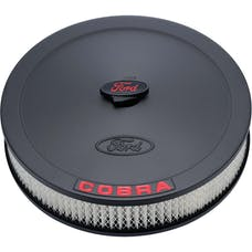 PROFORM 302-372 Air Cleaner Kit; Black; Embossed Cobra Logo; 13 In. Diameter; With Center Nut