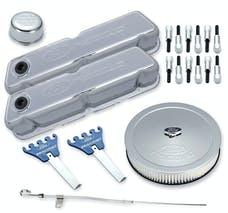 PROFORM 302-515 Engine Dress-Up Kit; Chrome w/Embossed Ford Racing Logo; Fits SB Ford Engines