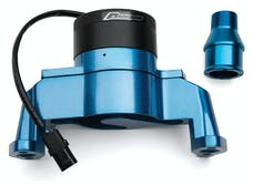 Proform 66225B Electric Engine Water Pump; Aluminum; Blue Powder Coat; Fits SB Chevy Engines