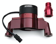 Proform 66225R Electric Engine Water Pump; Aluminum; Red Powder Coat; Fits SB Chevy Engines