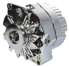 Proform 66445.6N Alternator; 60 AMP; GM 1 Wire Style; Machined Pulley; Chrome Finish; 100% New