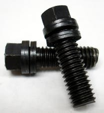 Proform 66751 Wedge-Locking Header Bolts; Hex Head; 3/8 dia. X 3/4in Black Oxide; 12 Pcs