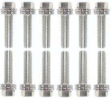 Proform 66754 Wedge-Locking Header Bolts; Hex Head; M8 X .984in; Chevy LS; Nickel Plt; 12 Pcs
