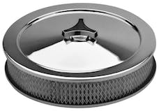 Proform 66802 Engine Air Cleaner Kit; 10 Inch Dia; Deluxe Model; Chrome; No Logo; With Element