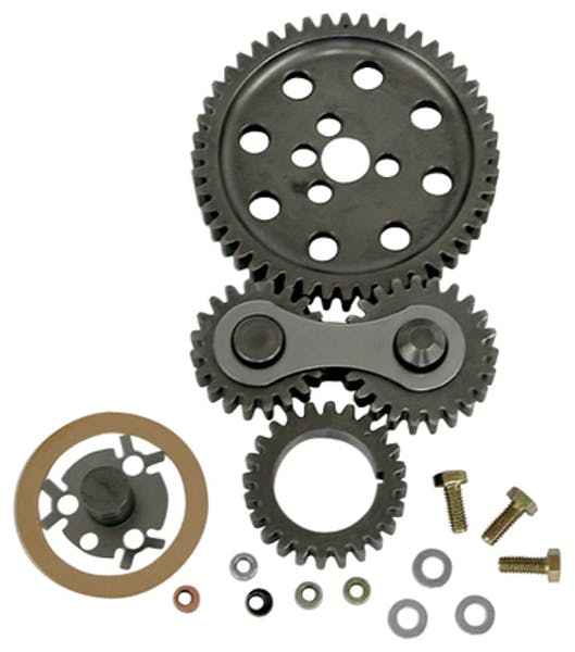 Proform 66917C Engine Timing Gear Drive; Hi-Performance Under Cover Model; Fits SB Chevy Engine