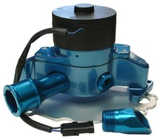 Proform 68220B Electric Engine Water Pump; Aluminum; Blue Powder Coat; Fits SB Ford Engines