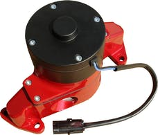 PROFORM 68220R Electric Engine Water Pump; Aluminum; Red Powder Coat; Fits SB Ford Engines