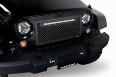 Putco 270524BL JEEP WRANGLER JK - CUT TO FIT-(LIGHTED W/20IN. LUMINIX LIGHT BAR) ANODIZED ALUMINUM