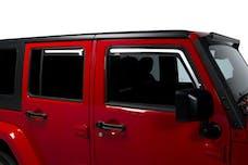 Putco 580229 JEEP WRANGLER JK-ELEMENT TINTED WINDOW VISORS - 4 DOOR