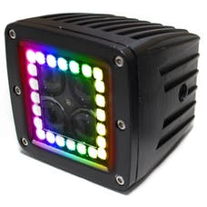 Race Sport Lighting RSRGB12A ColorADAPT 3x3 HALO Cube Light with RGB Multi-Color Functions